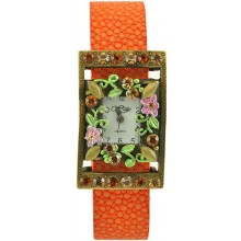 Fashion watch & stingray leather watch band STWAB1975-3 Orange