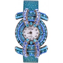 Fashion watch & stingray leather watch band STWAB2000-2 Sky Blue