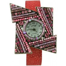 Fashion watch with stingray leather watch band STWAB2081 Red