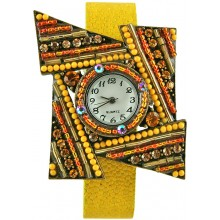 Fashion watch with stingray leather watch band STWAB2081 Yellow