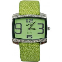 Fashion watch & stingray leather watch band STWACT10 Olive Green