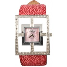 Fashion watch with stingray leather watch band STWACT12 Red