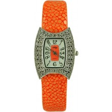 Fashion watch with stingray leather watch band STWACT16 Orange