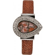 Fashion watch with stingray leather watch band STWACT17 Brown