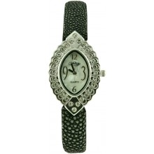 Fashion watch & stingray leather watch band STWACT24 Black