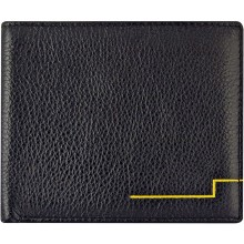 Genuine cow leather wallet WLW019 Black