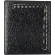Genuine cow leather wallet WLW027 Black