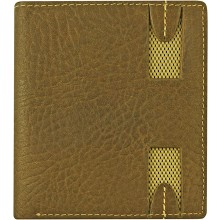 Genuine cow leather wallet WLW030 Brown