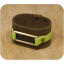 Premium cow leather handmade bracelet EL-2045-2C Brown / Light Green